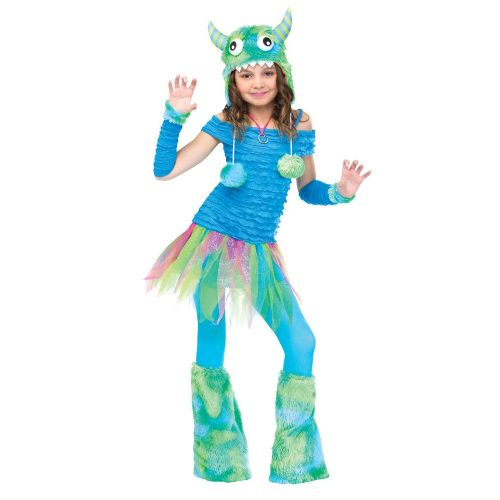 Boys Blue Beastie Child Costume for Halloween Fancy Dress Childrens Kids Childs